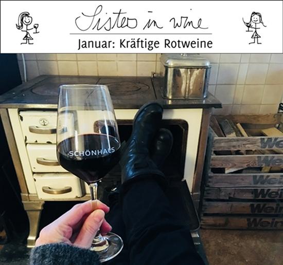Kräftige Rotweine-Sisters in Wine-Weingut Schönhals