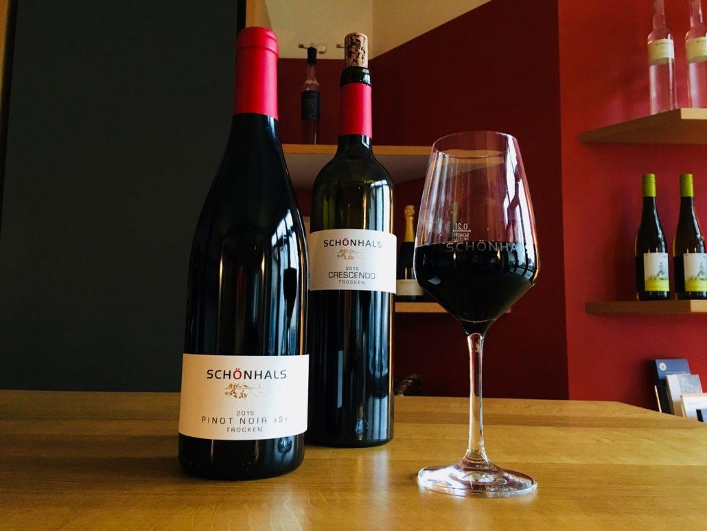 Kräftige Rotweine im Weingut Schönhals